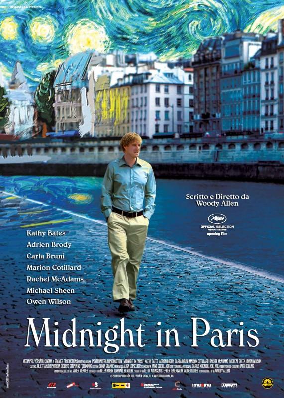 Midnight In Paris La Locandina Italiana Del Film 221290